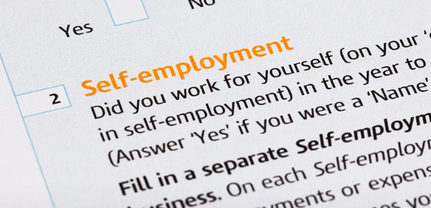 An IRS form with a self-employed checklist