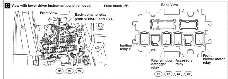 2007 nissan murano blower motor relay location for 2007 nissan altima blower motor