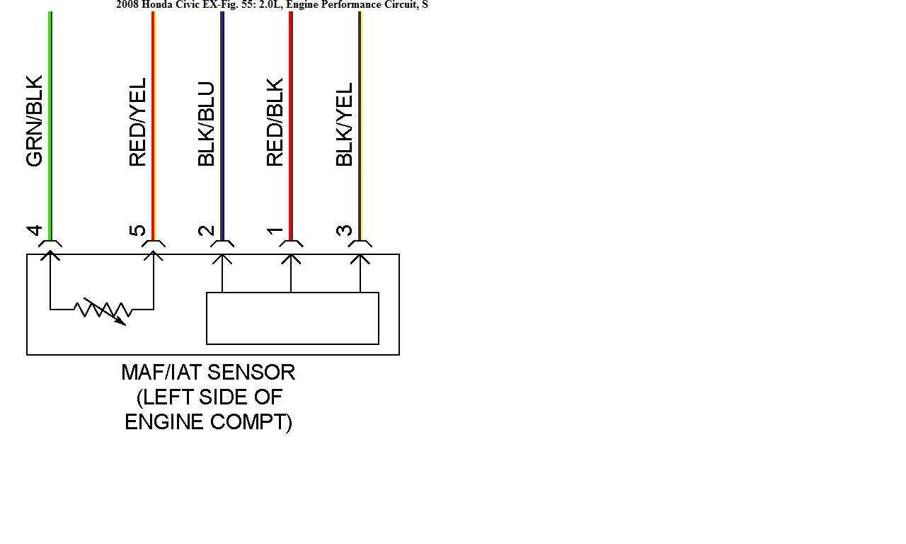 2008 honda civic si chip 2 12v wires the iat sensor coded