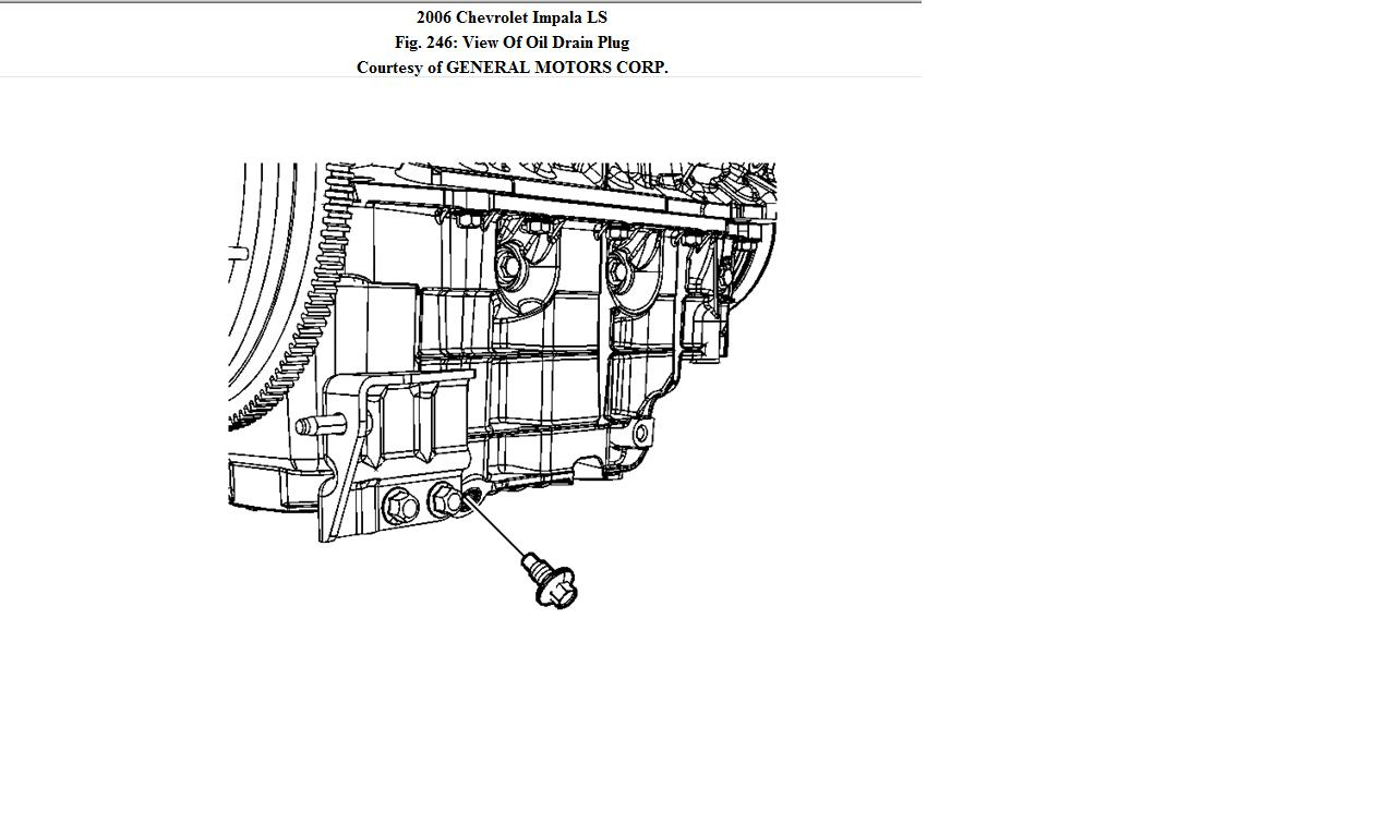 Where Is The Oil Pan Located On A 2006 Chevy Impala 3 5l