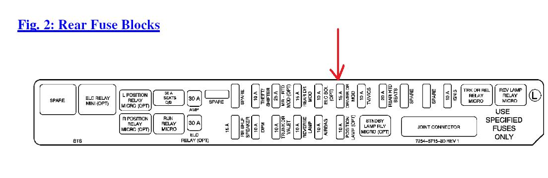 2005 cadillac sts door module wiring diagram 2005 free