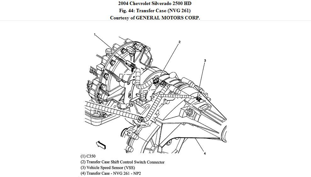 2002 chevy silverado transfer case problems