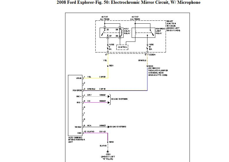 I Need The Wiring Diagram For A 2010 Ford Explorer Sync Mirror 10