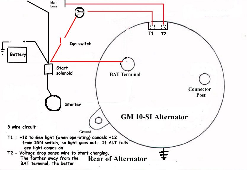fe-35 alternator connection