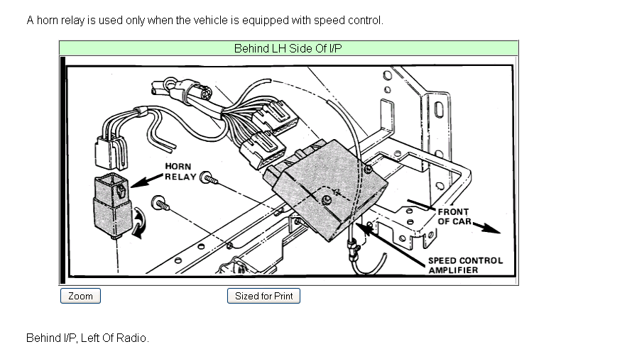 1989 ford tempo fuel pump relay location