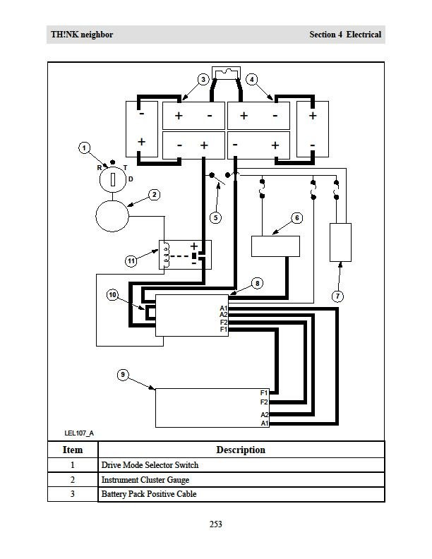 ford think battery wiring diagram ford think battery wiring