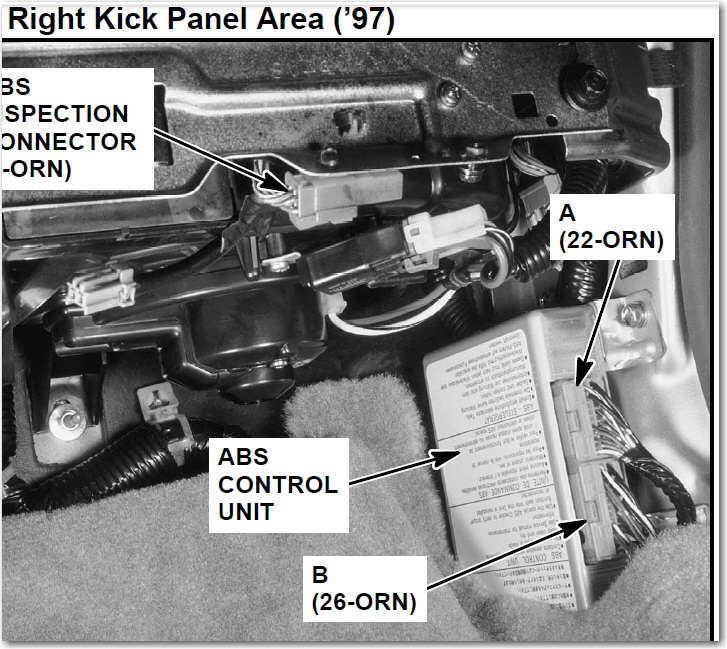 cl 3 0 how can i disable my abs light on my 1997 acura cl