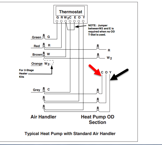 i am having an issue with my heat pump, initially i ... low voltage wiring diagram e2eb 015ha