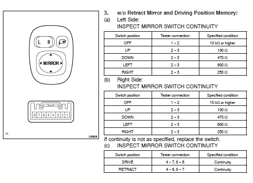 sequoia limited 2005 rh mirror wiring full size image