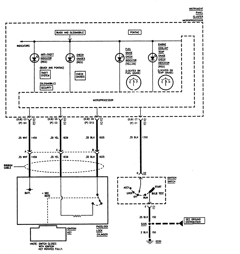 Wiring diagram 1997 buick skylark