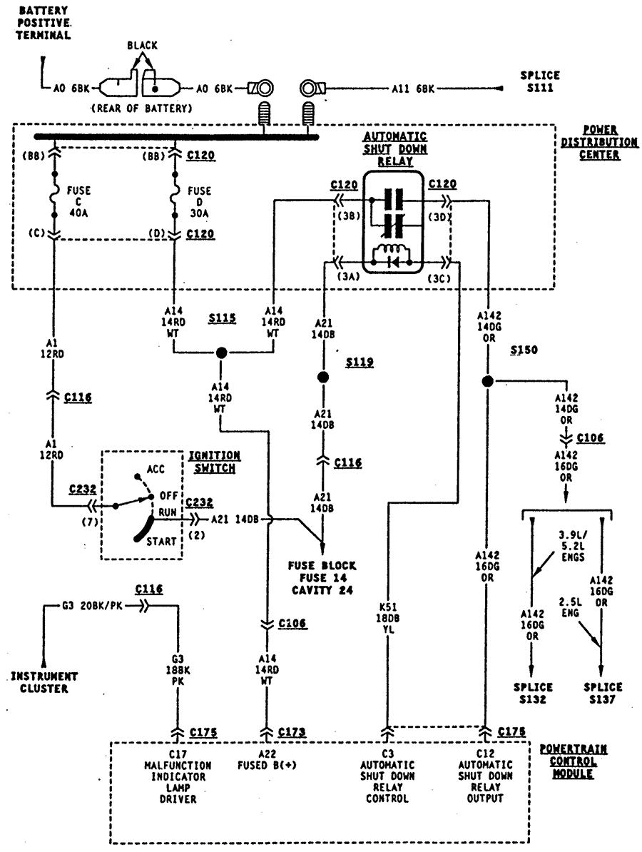 94 dodge dakota fuel pump wiring diagram  94  free engine