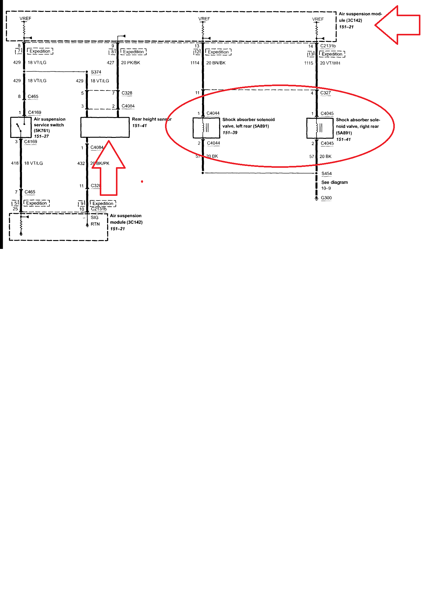 dodge hi amdee i am working on a lincoln navigator 2004 here is a wiring diagram for this circuit you can see the rear ride height sensor sends a signal to the air suspension module