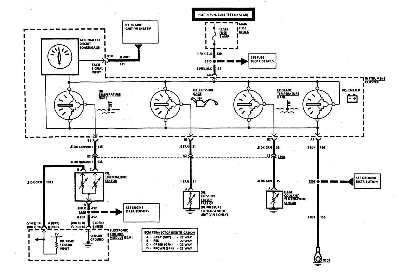1991 corvette wiring diagram davo, i have a 1991 corvette standard c4. the tachometer ... #4