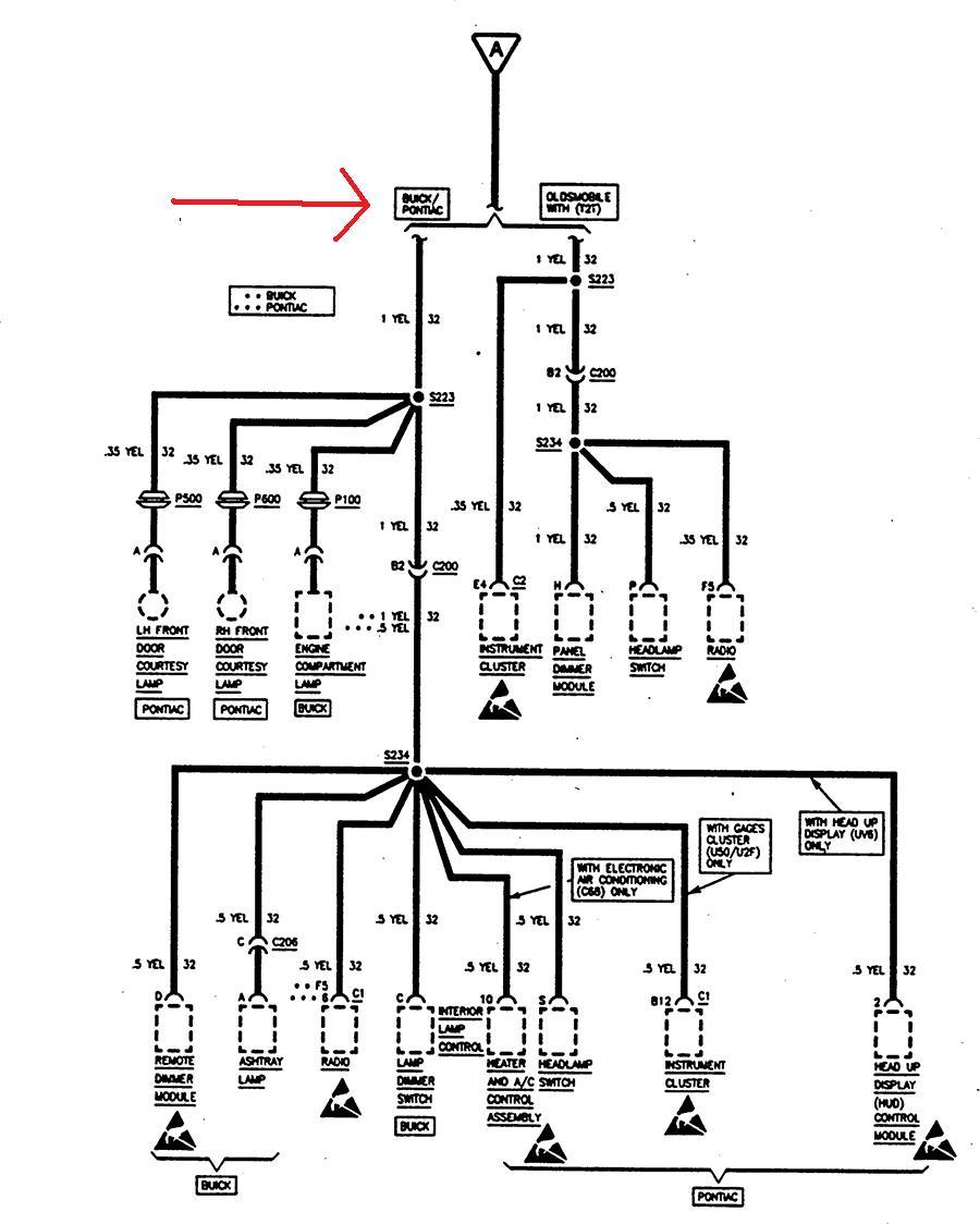 i have a 1997 pontiac bonneville se. when i turn on the ... 2001 pontiac bonneville fuse diagram