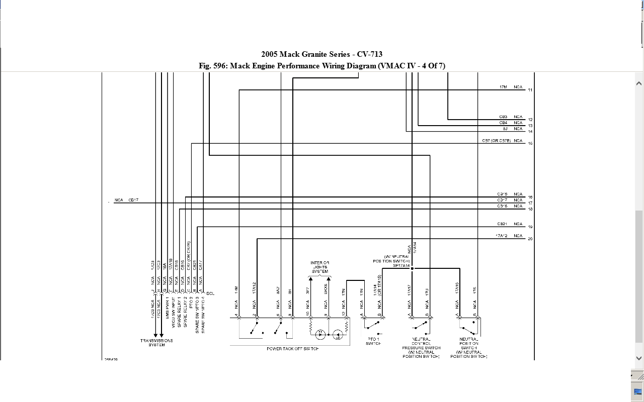 2005 mack wiring diagram 2005 wiring diagrams cars 2007 mack cv713 wiring diagram 2007 wiring diagrams
