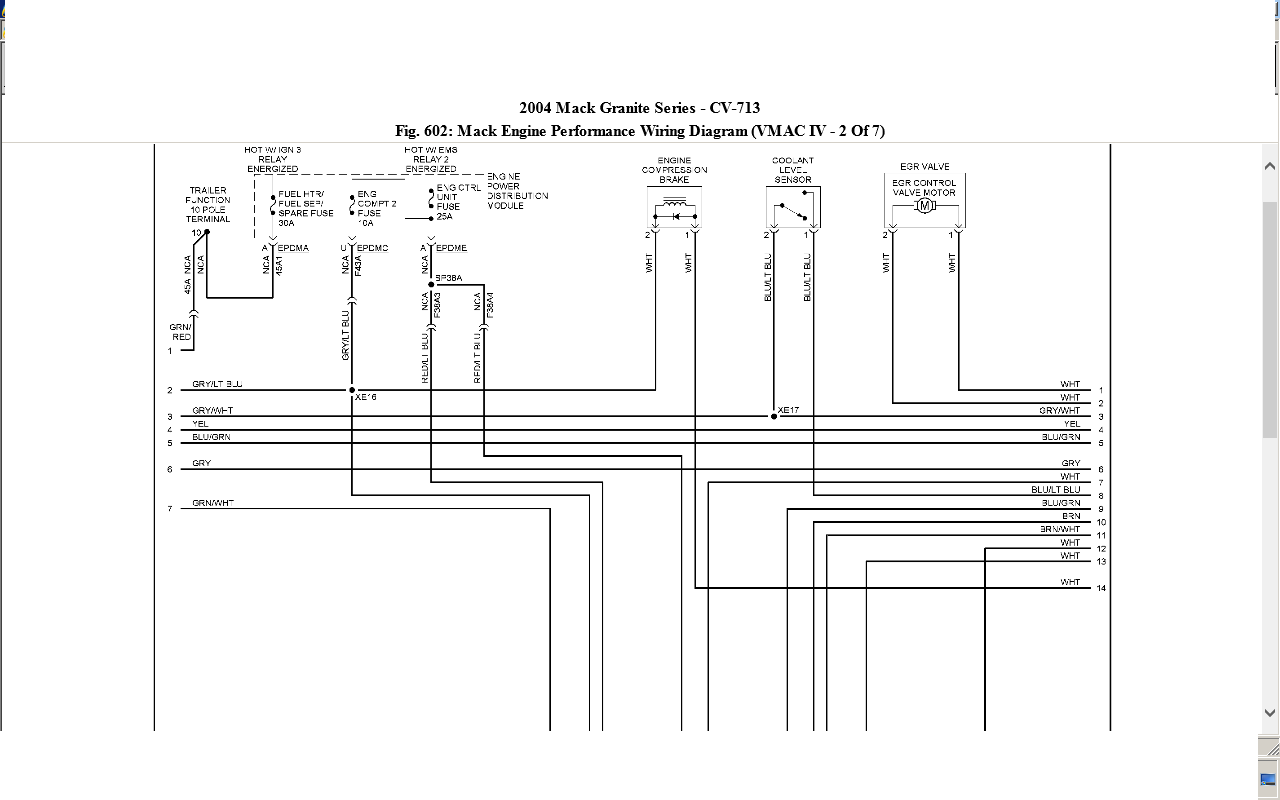 mack wire diagram  mack  free printable wiring diagrams database
