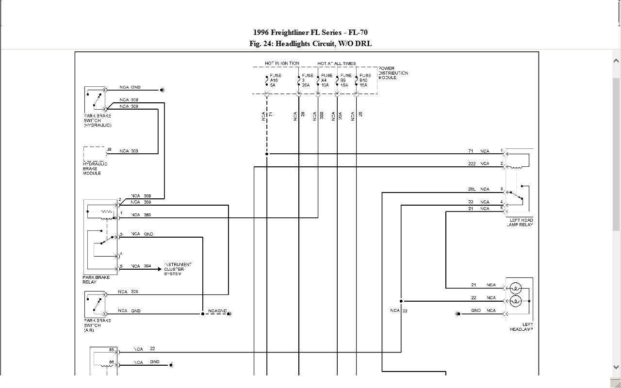Freightliner 02  96 Fl70 Vin  1fv6hlac4tz678601 Need A Headlight Schematic Need A Schematic For