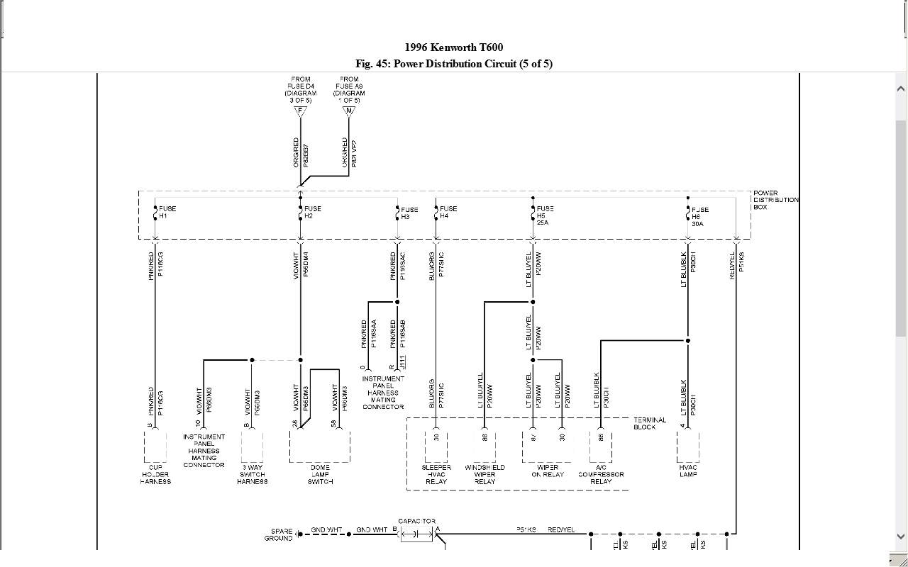 kenworth fuse panel diagram 1989