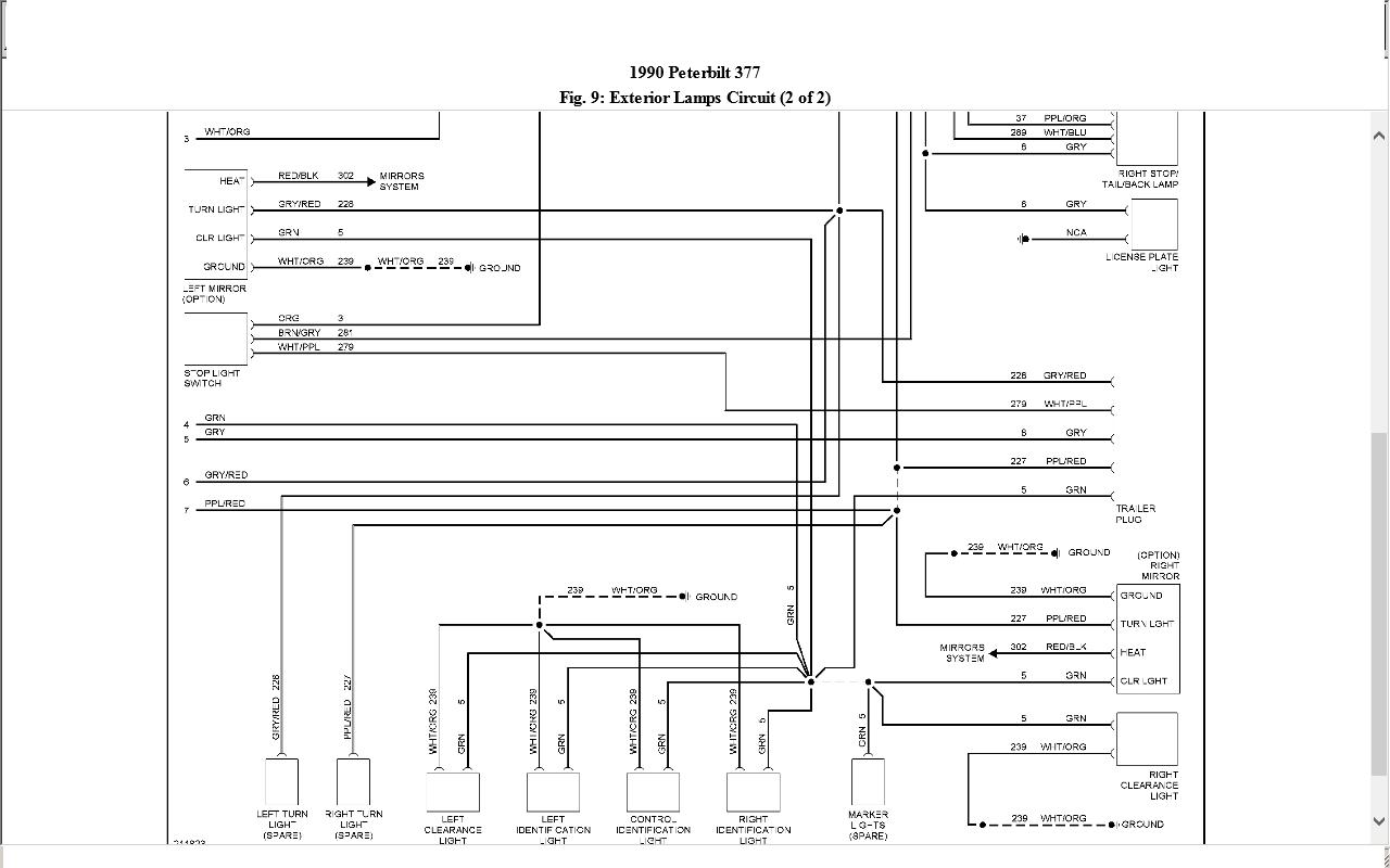 peterbilt 379 head light wiring diagram peterbilt wiring 1998 peterbilt 379 headlight wiring diagram and