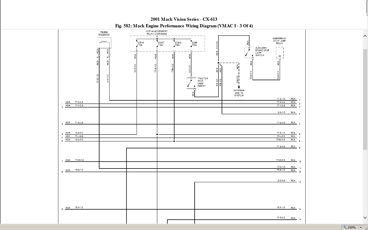 2000 Mack Wiring Diagram Books Of I Have A Model Cx613 And Am Having Problems Ch613