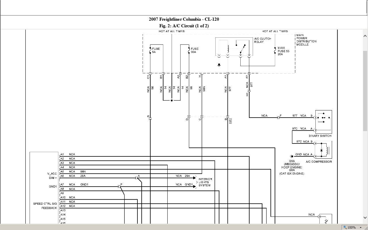 Have A 2006 Freightliner Cascadia  Need Wiring Diagram
