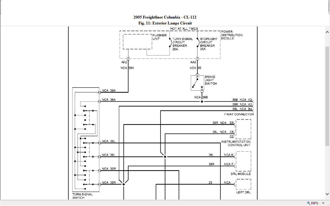freightliner wiring diagram i have a 2005 freightliner columbia and the tail and ...