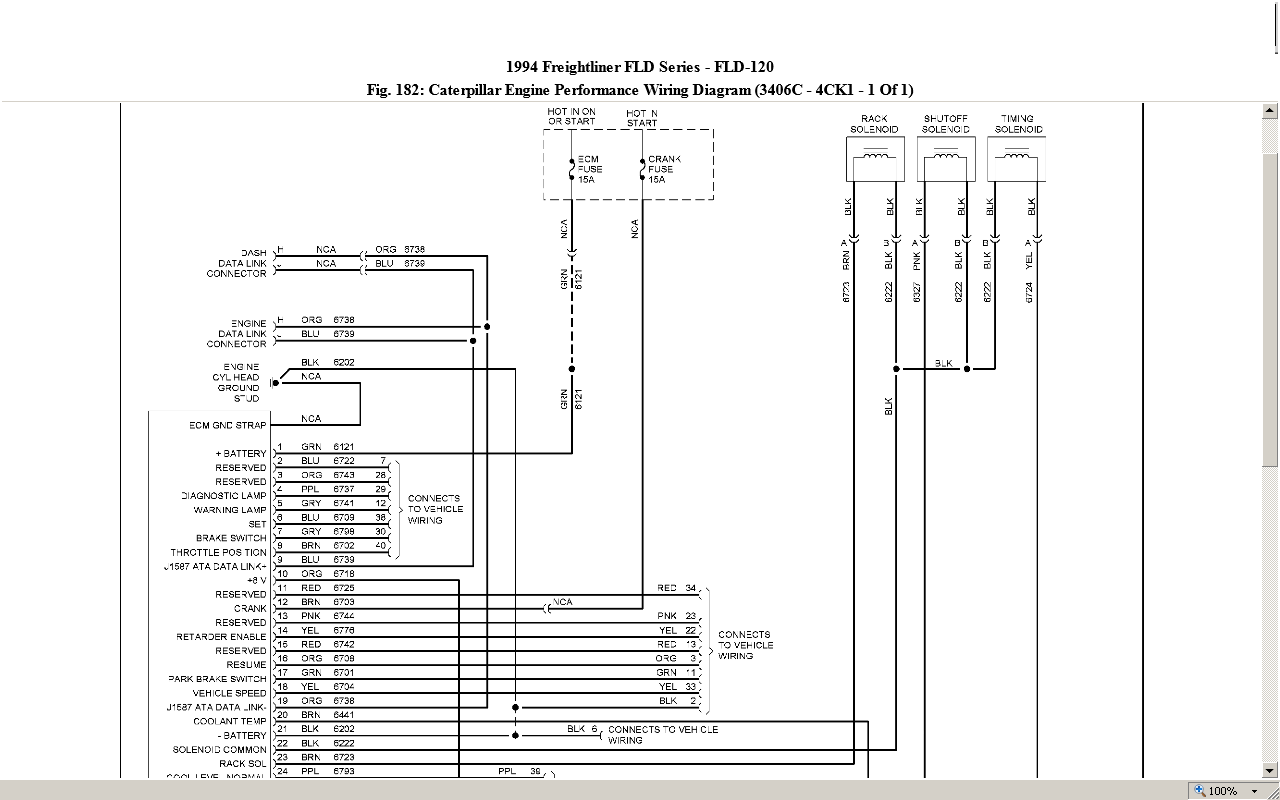 93 Freightliner 3406 Cat Need Wiring Diagram Of The 40 Prong Ecm Plug