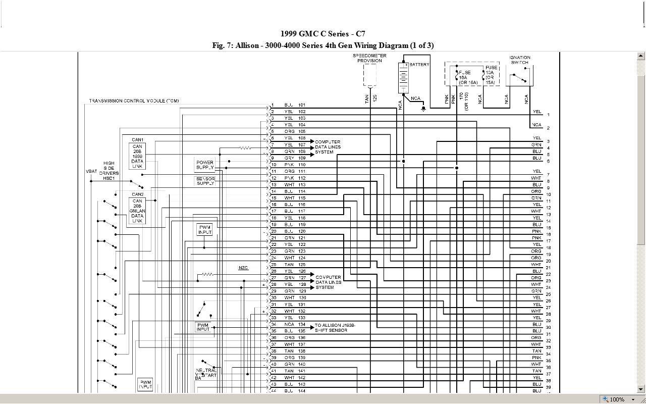 wiring diagram for allison transmission the wiring diagram can you help me a wiring diagram for a 1999 chevy c7500 wiring diagram