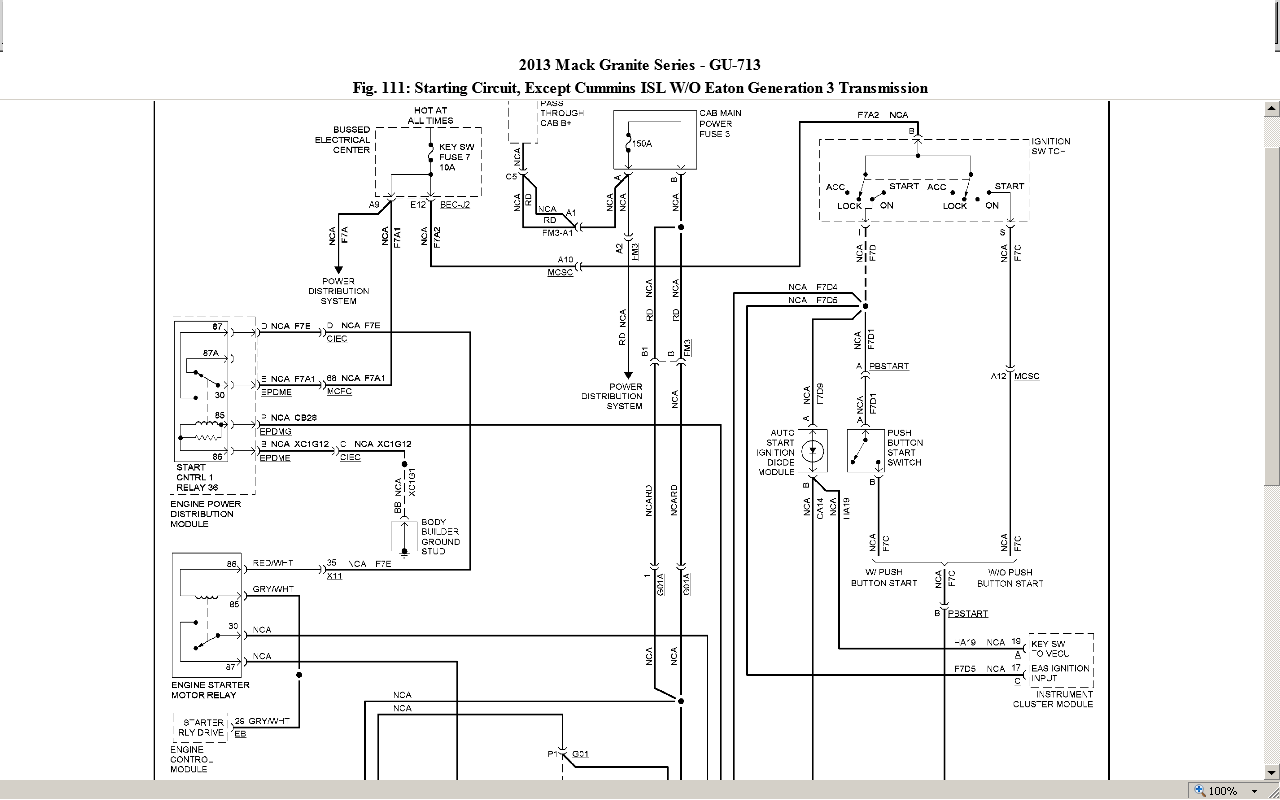 mack gu713 wiring diagram mack logging wiring diagram