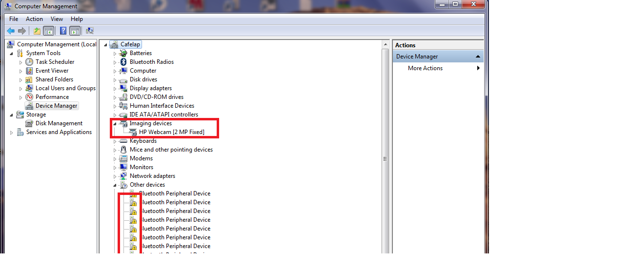 Hp imaging device functions