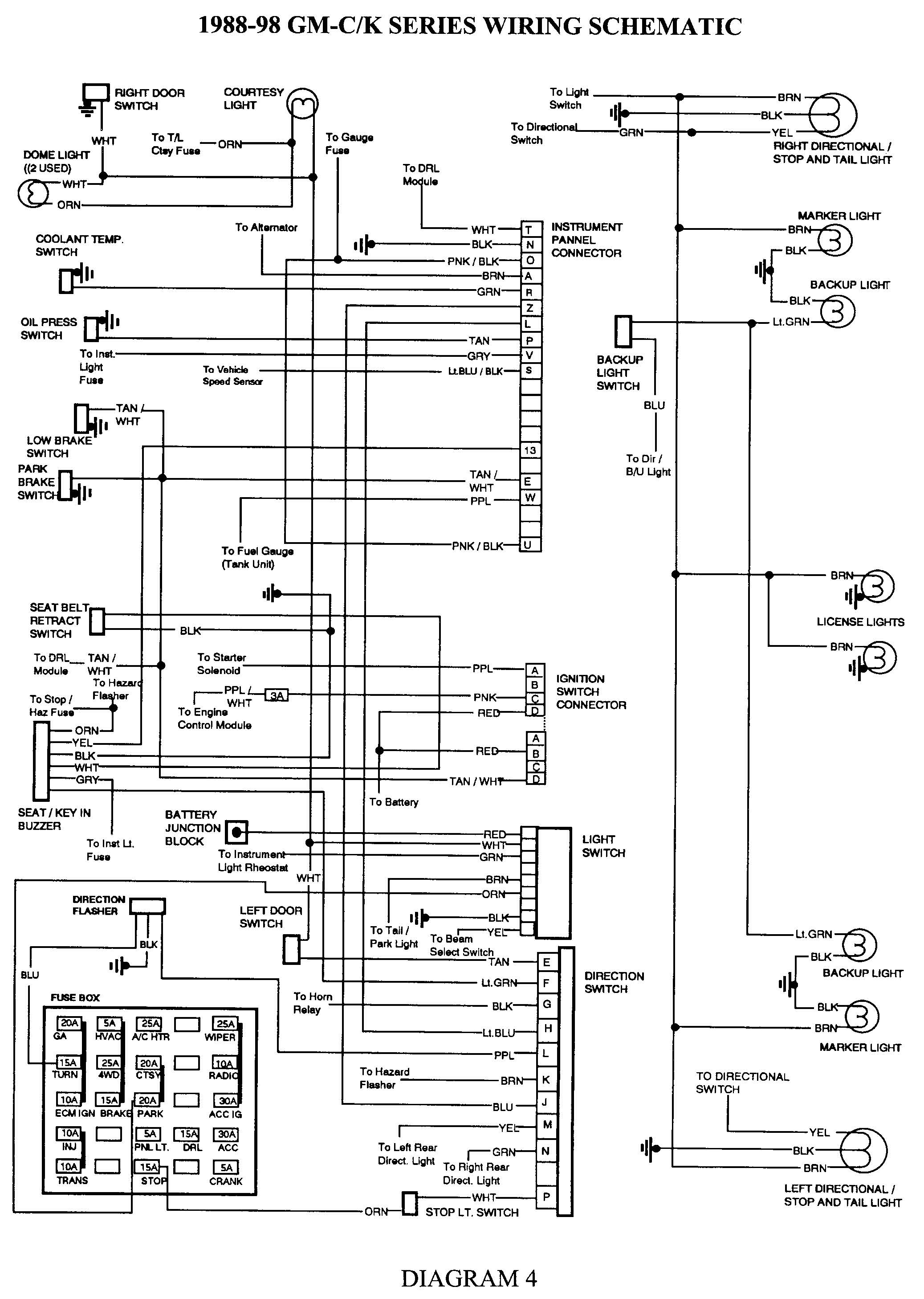 88 chevy tbi wiring diagram diagrams online 1998 Chevy Wiring Diagram