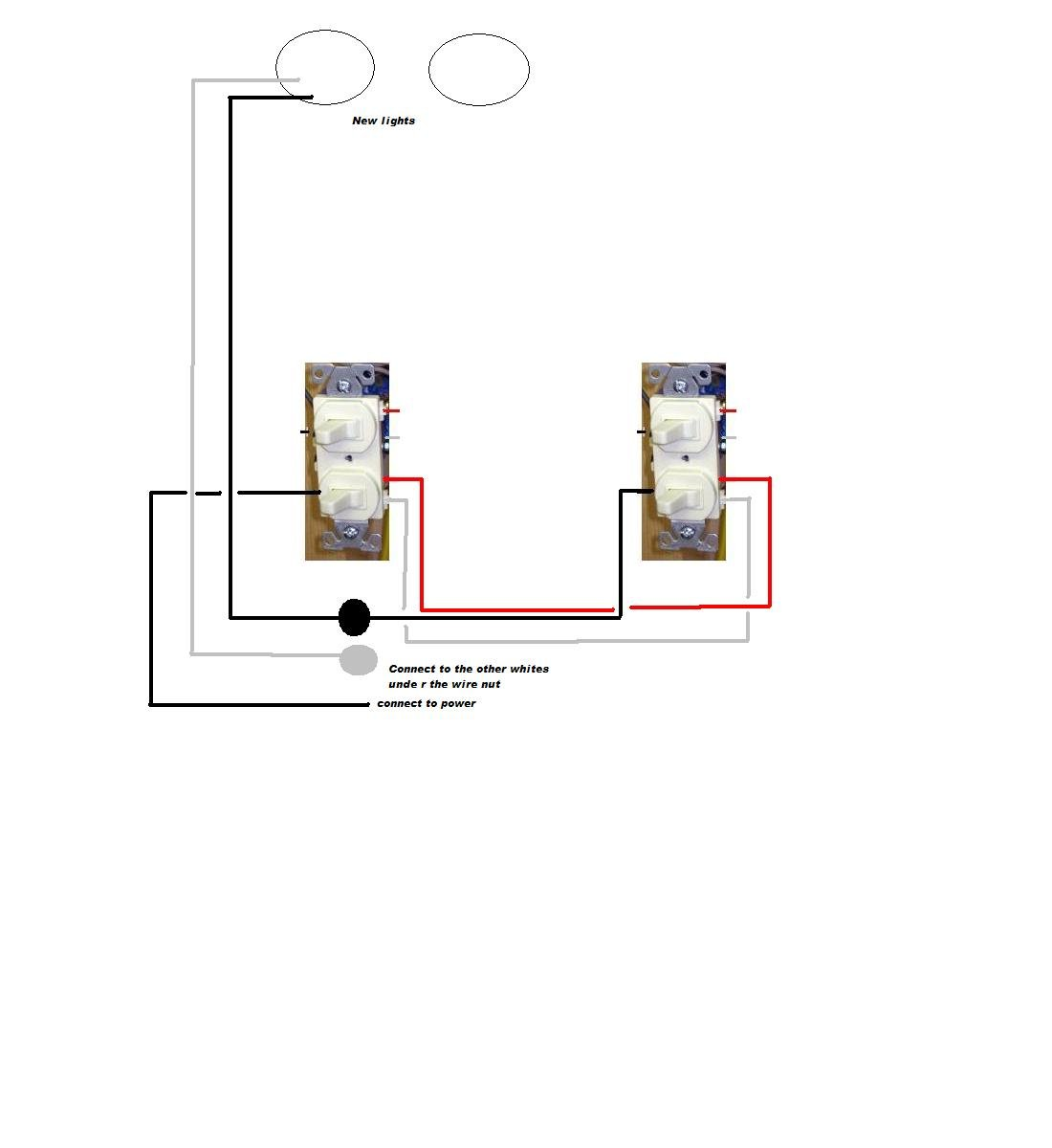 have one light on two 3 way switches adding recessed lights full size image
