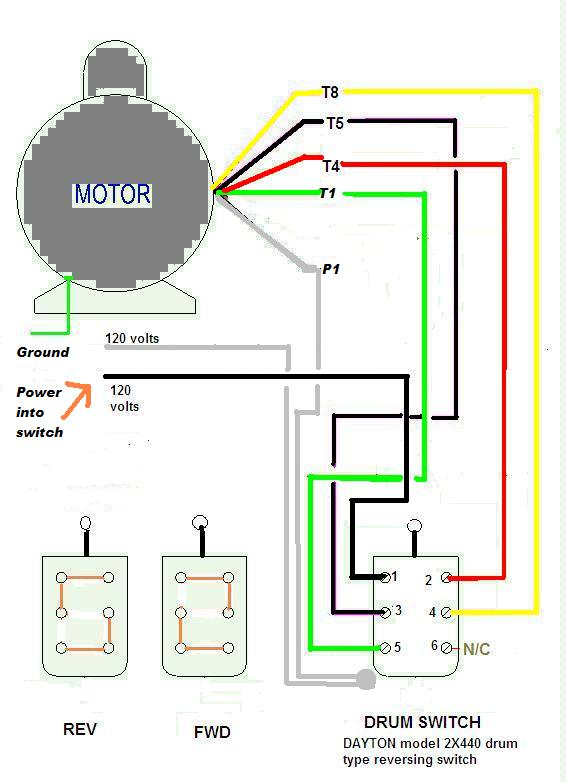Dayton Reversing Drum Switch Wiring Diagram on phase converter wiring diagram