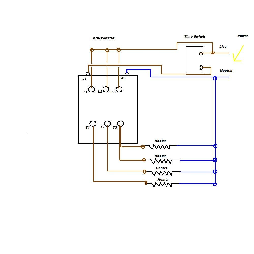 i am trying to connect a nc1 chint 240v contractor to