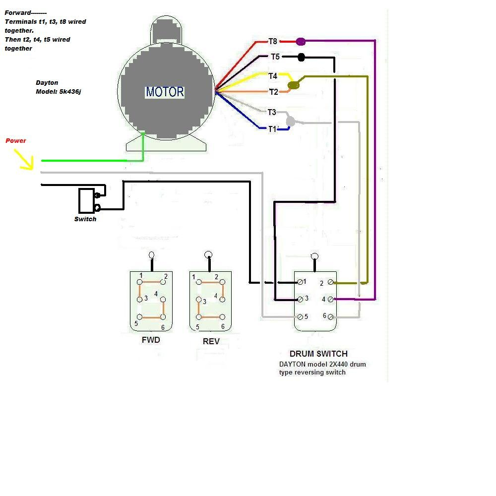 dayton 1 5 hp motor ph wiring diagram