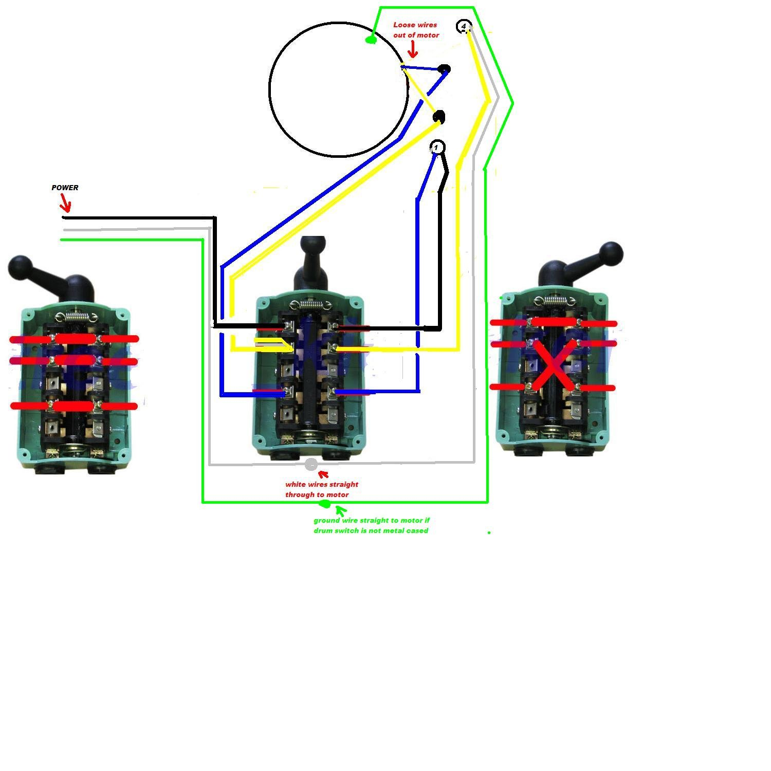 need help wiring a 60 amp drum switch forward/off/reverse ... dayton drum switch wiring diagram for electric motor merz drum switch wiring diagram #5