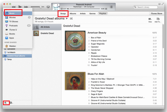 how to make your own song playlist on itunes