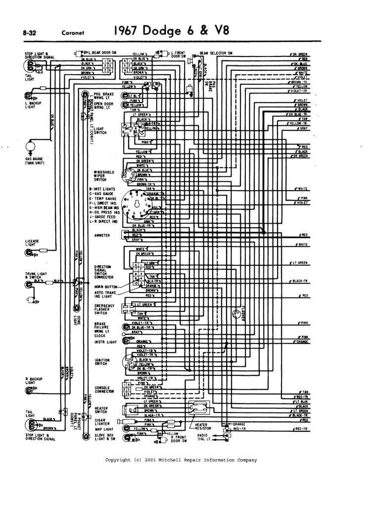 67 Coronet Wiring Diagram 67 Free Engine Image For User