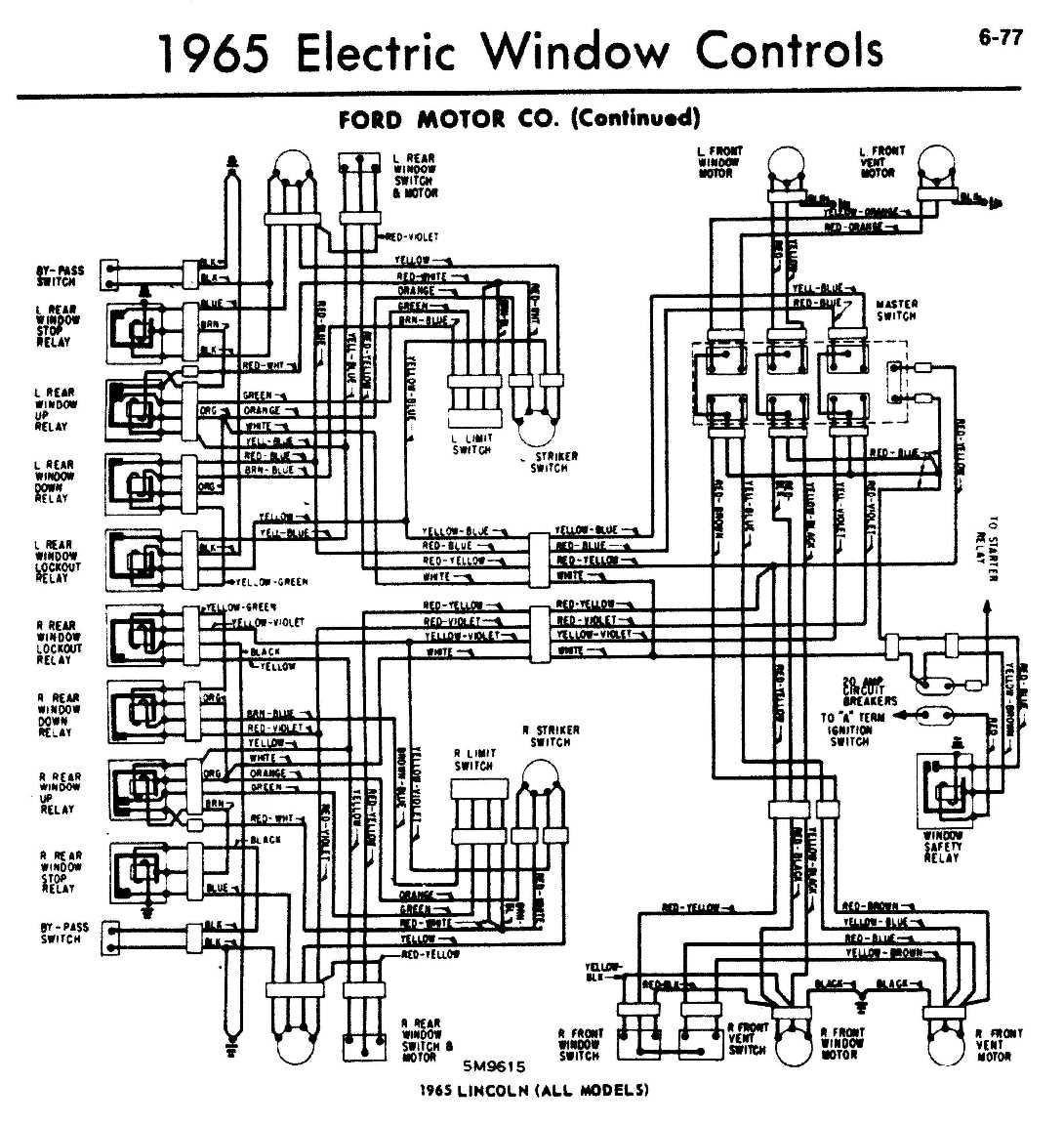 1965 Thunderbird Power Window Wiring Diagram Complete Ford 1966 1955 Rh Recored Co 1956