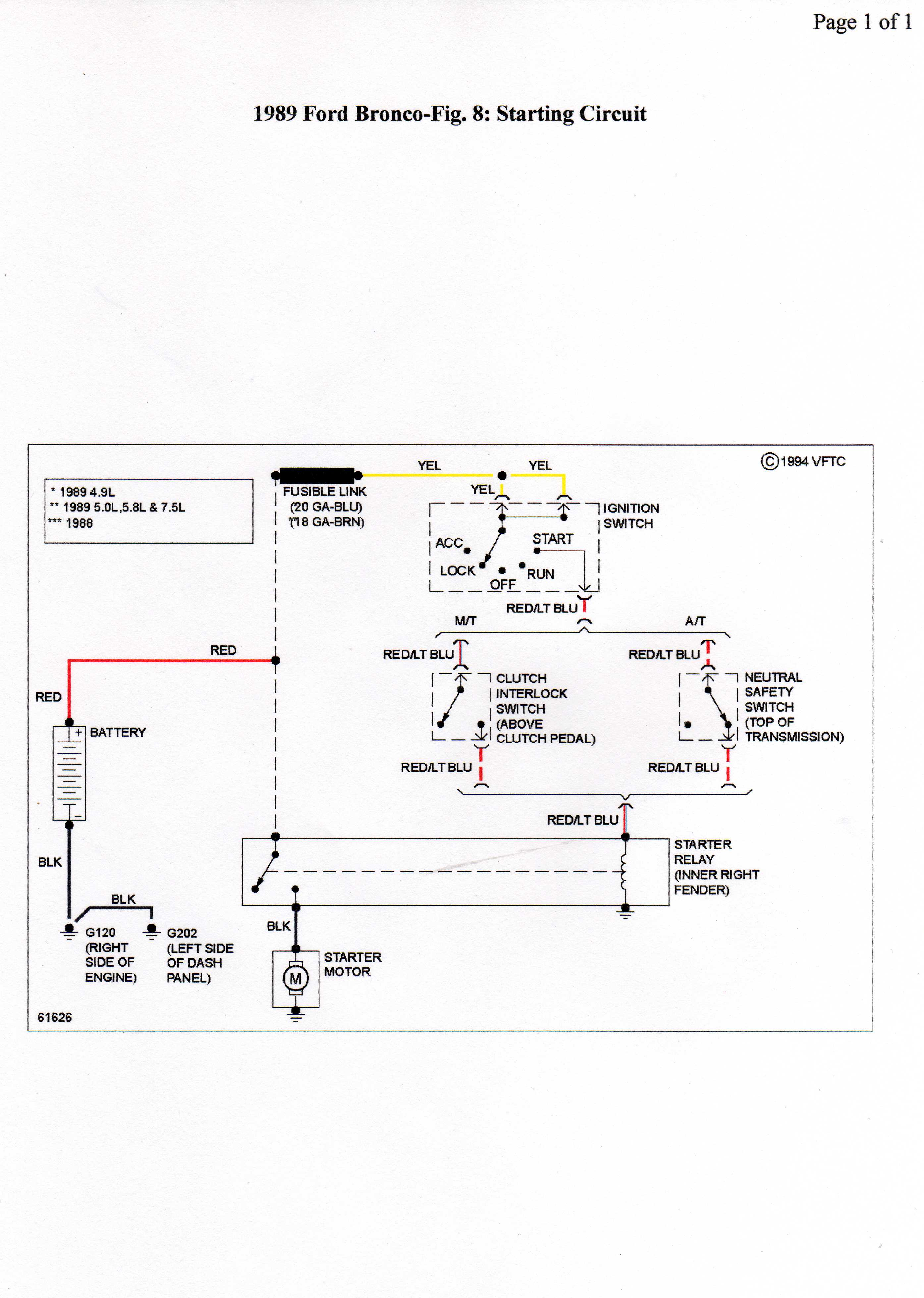 ford bronco starter wiring diagram ford bronco battery wiring diagram #8