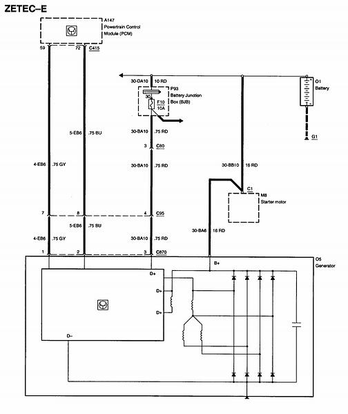 2000 ford windstar alternator wiring diagram wiring diagrams 2000 ford focus alternator wiring diagram and hernes