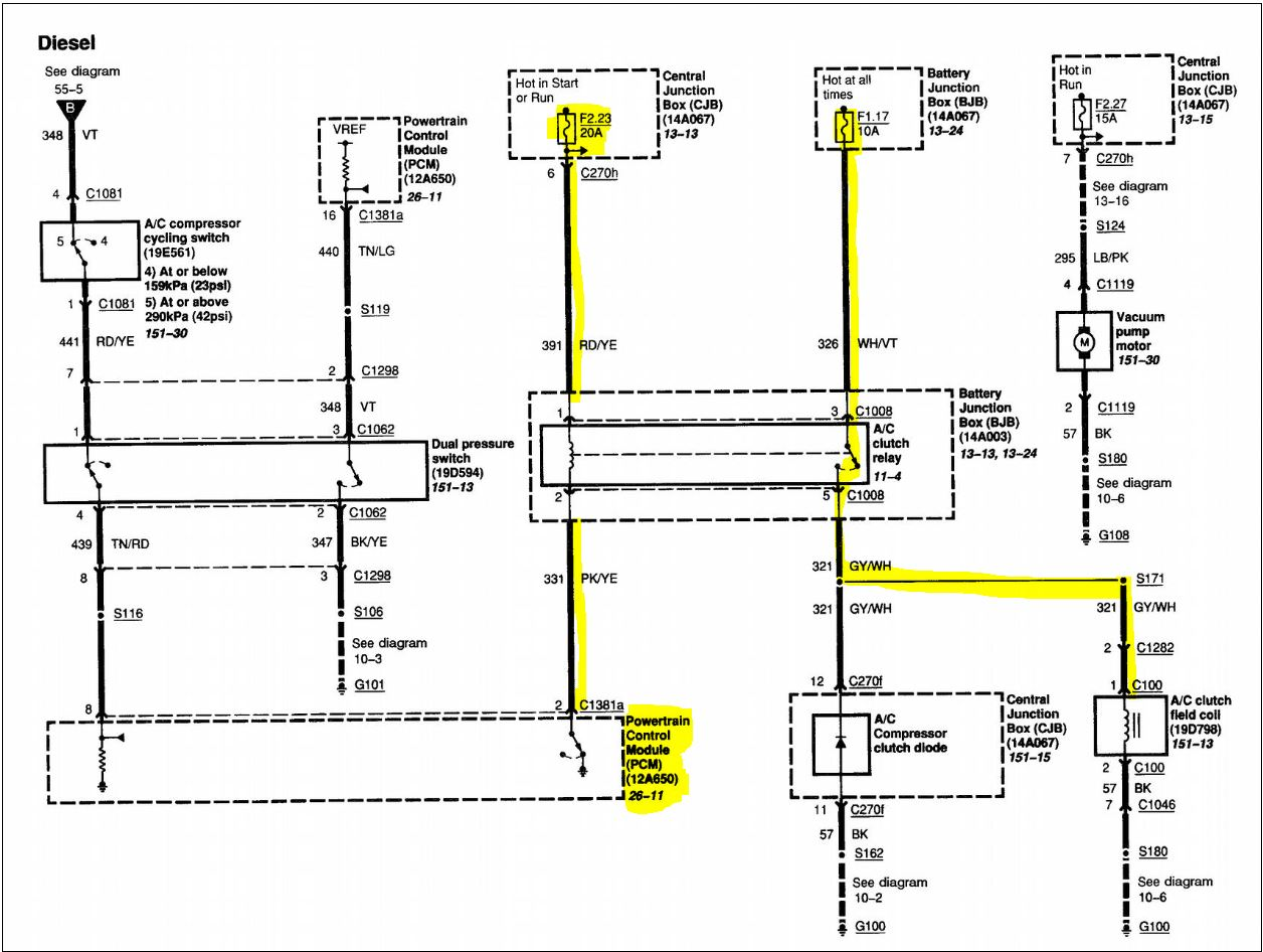 Ford 6 0 Sel Fan Clutch Wiring Diagram Ford Free Engine