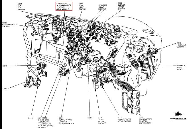 1997 ford expedition check suspension light