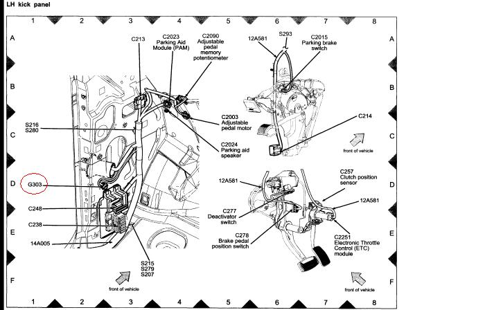 ford f 150 sunroof diagram