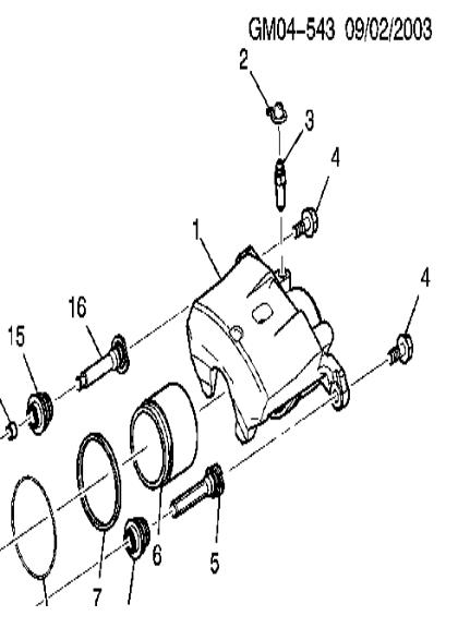 2007 saturn aura xr  front brakes