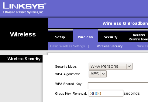 Setup a Linksys Wireless Router