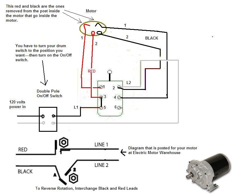 i am wiring a cutler hammer db1 drum switch to a dayton ... ac electric motor rotary switch wiring electric motor drum switch wiring diagram #9
