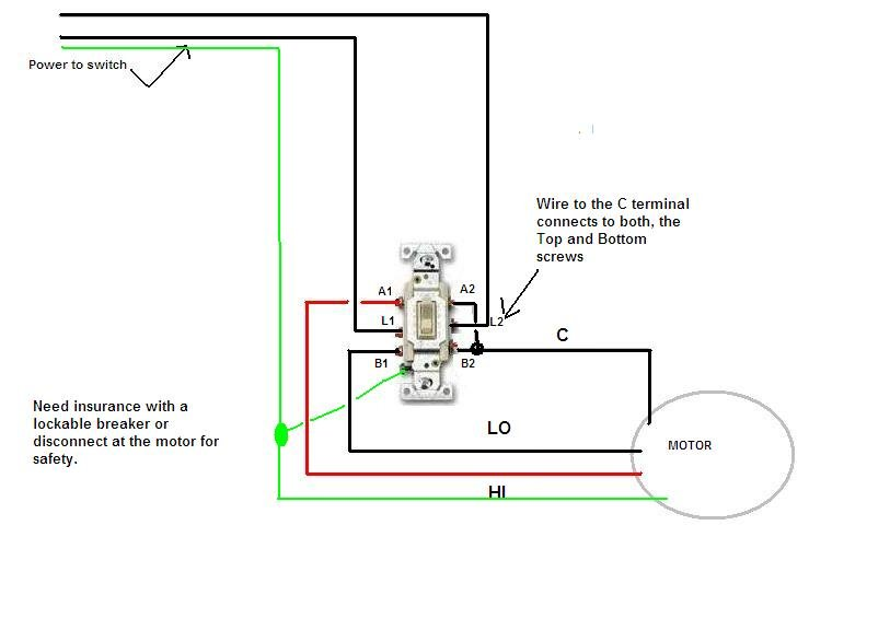 Please Tell Me How To Wire A P  U0026 S Dpdt 20 Amp Switch