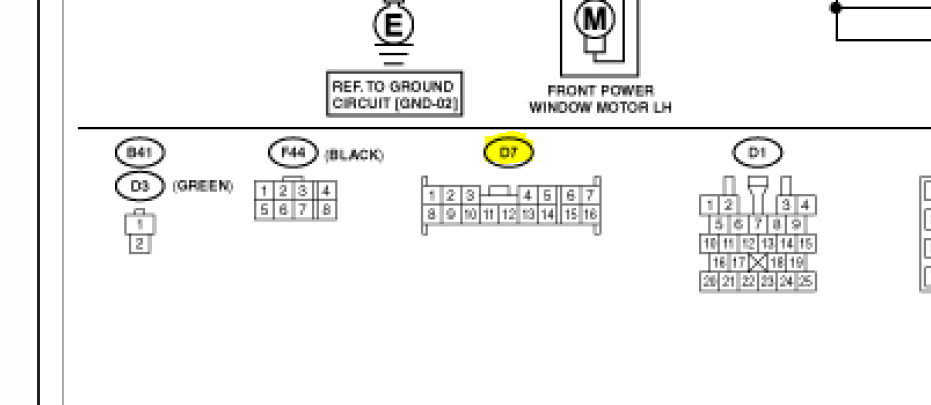2007 subaru forester window wiring diagram  subaru  auto