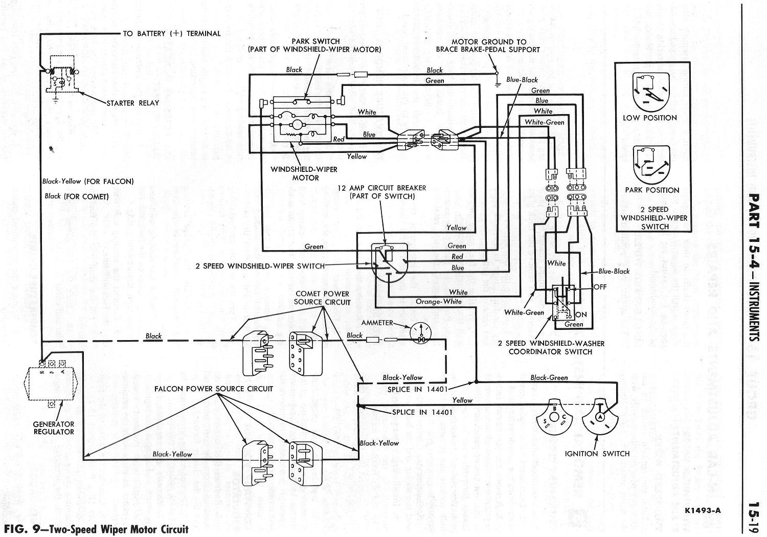93 ford wiper motor wiring diagram